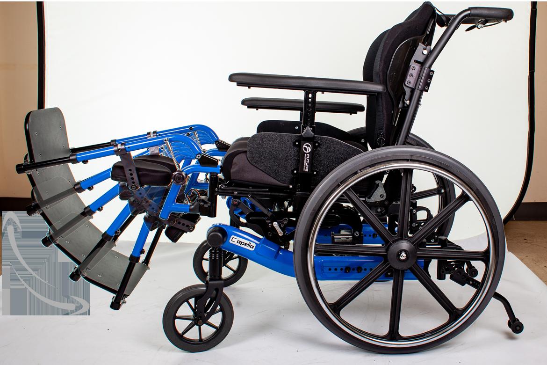 capella wheelchair leg tilt