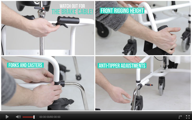 How to Adjust Commode Aqua TL Wheelchair