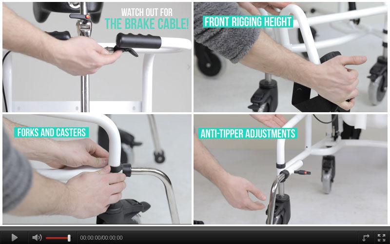 How to Adjust Commode Aqua TL Wheelchair