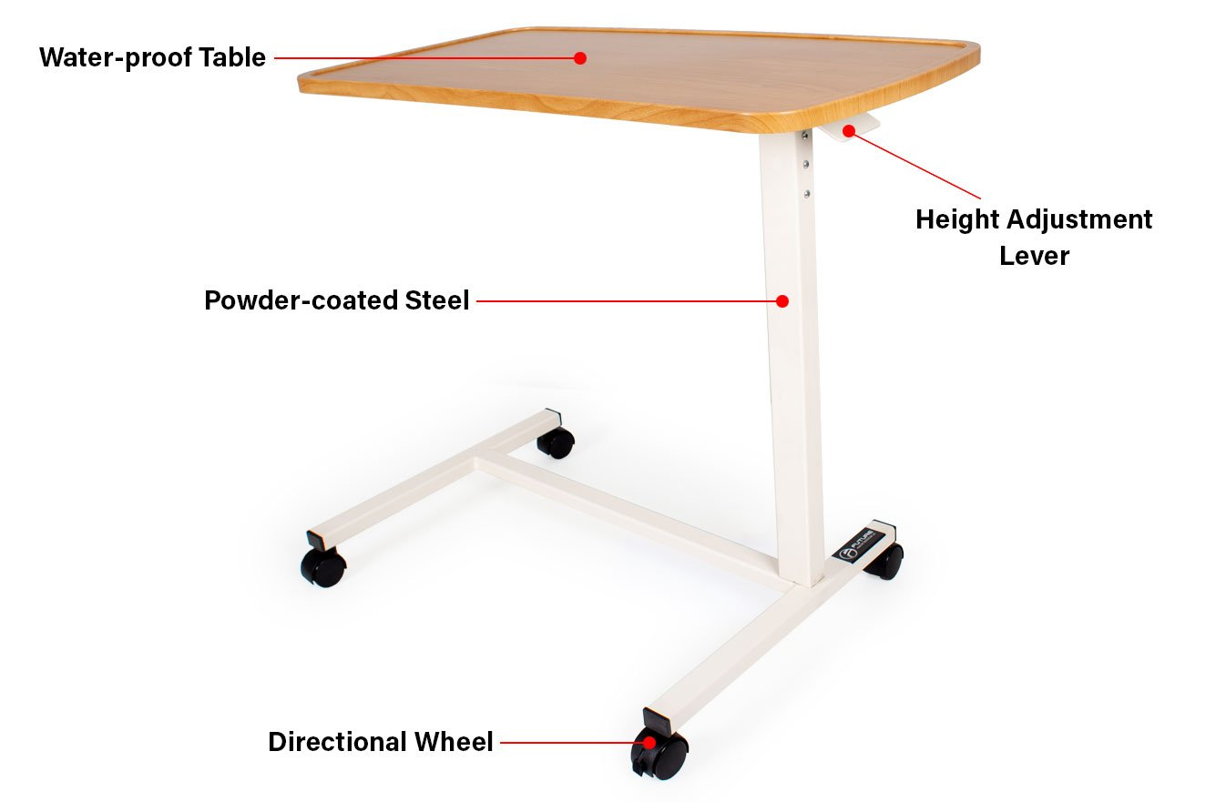 hospital bed table overview