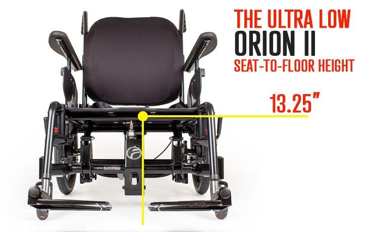 orion II seat to floor height